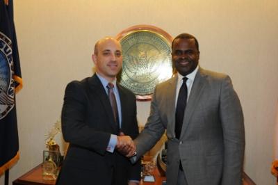 Atlanta Mayor Kassim Reed with ADL National Director Johnathan Greenblatt