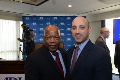 Photo of Congressman John Lewis with ADL National Director Johnathan Greenblatt