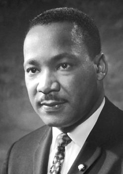 Rev. Martin Luther King, Jr. Source: Wikipedia