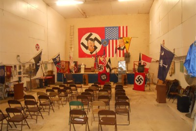 Meeting hall for the American Nazi Party