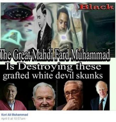 Kori Ali Muhammad Facebook Shared White Devil Skunks