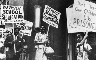 Brown v. Board of Education School Segregation Protest
