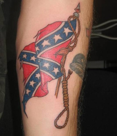 Confederate Flag Noose Tattoo