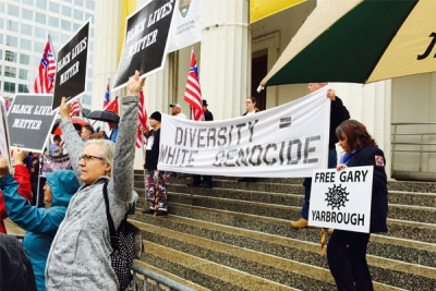 Diversity Equals White Genocide Rally