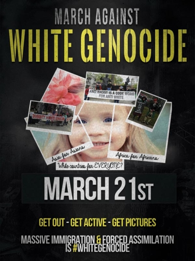 March Against White Genocide Poster