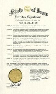 Iowa gov proclamation