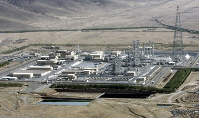 An aerial view of a heavy-water production plant, which went into operation despite U.N. demands that Iran roll back its nuclear program, in the central Iranian town of Arak, Saturday, Aug. 26, 2006. President Mahmoud Ahmadinejad declared Saturday, after the inauguration of the plant, that his nation