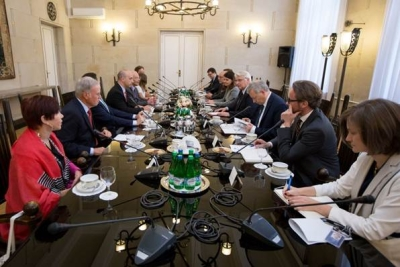 The ADL delegation meeting with Foreign Minister Witold Waszczykowski and ministry officials
