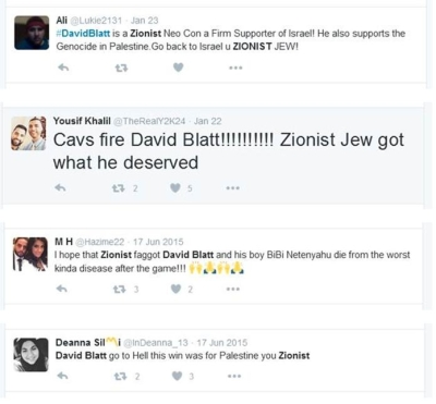 anti-israel-david-blatt-tweets