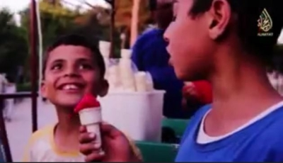 Children eating ice cream in an ISIS propaganda video
