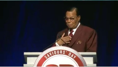 Farrakhan delivering his Saviours