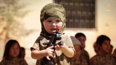 A young child in an ISIS propaganda video