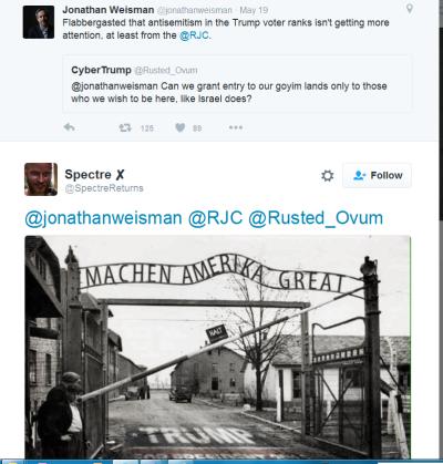 jonathan weisman tweet auschwitz